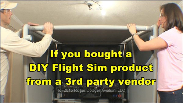 If you bought DIY flight simulator build plans from a 3rd party vendor