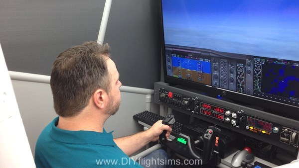 Native FSX instruments in the DIY Flight Sim Pod
