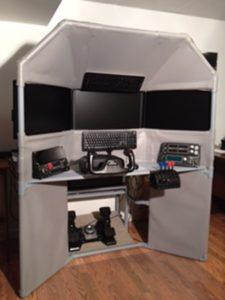 DIY Triple Screen Flight Sim built by Richard