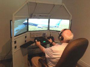 DIY Triple Screen Flight Sim built by Wayne