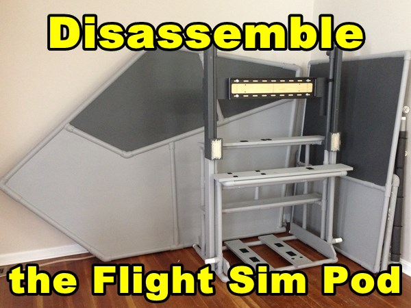 disassemble enclosed flight sim
