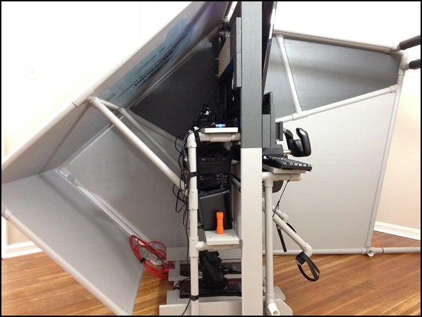 Enclosed flight sim Pod, partial disassembly