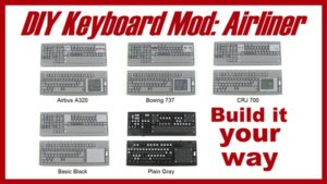 the best and cheapest way to build a home flight simulator with a keyboard mod