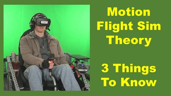 motion flight sim theory, man in Kinetic flight sim