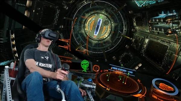 DIY Elite Dangerous Motion Flight Sim leaving dock