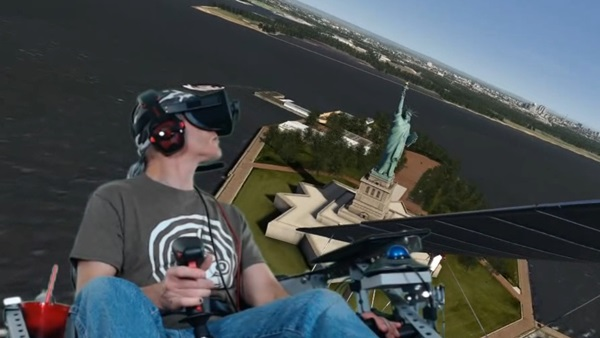 Flying around Statue of Liberty in Aerofly FS2